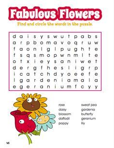 Flowers will soon be in bloom! Get ready for spring by solving this free word search with your child. Afterward, show them what each flower looks like so they can identify them! Free Word Search, Spring Fever, Spring Is Here, Flower Crafts, Spring Cleaning, Acting, Bloom, Boards, Classroom