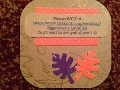 Handmade RSVP card to match the invitation.