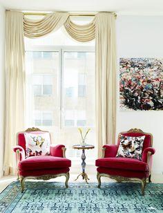 Upholster Antique Furniture With Modern Fabric  - ELLEDecor.com