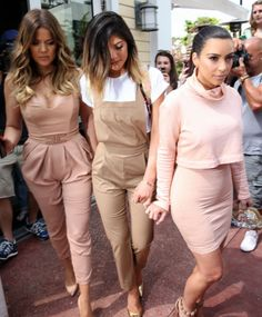 March 12, 2014 - Kim  Khloe Kardashian and Kylie Jenner shopping in Miami.