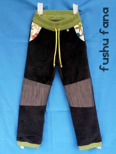 FushuFana: Pantalón TAU (con enlace a patrón gratis y tutorial) Baby Sewing, Parachute Pants, Upcycle, Kids Outfits, Sweatpants, Couture, Children, Boys, How To Wear