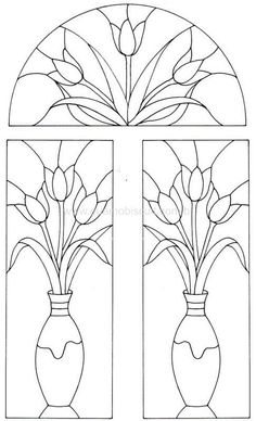 Patterns for Stained Glass painting . Discussion on LiveInternet - Russian Service Online Diaries Stained Glass Flowers, Faux Stained Glass, Stained Glass Designs, Stained Glass Panels, Stained Glass Projects, Stained Glass Patterns, Mosaic Patterns, Colouring Pages, Coloring Books
