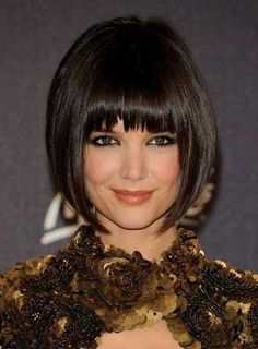 Custom Katie Holmes Bob Hair Style 100% Human Remy Hair Short Straight 8 Inches Perfect Wig