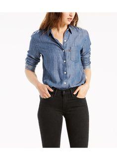 Sidney One Pocket Boyfriend Shirt 6b8d565699c5b