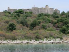 The Castle of Ali Pasha Tepelena stands on a small island now connected by a causeway at Porto Palermo Bay, Albania. Small Island, Albania, Palermo, Ali, Coastal, River, Outdoor, Porto, Seaside