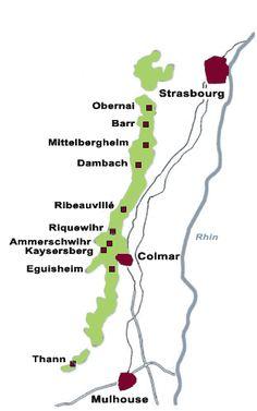 Alsace Map Wine Region