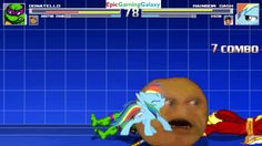 The Annoying Orange And Donatello VS Shazam And Rainbow Dash In A MUGEN Match / Battle / Fight This video showcases Gameplay of The Annoying Orange And Donatello From The Teenage Mutant Ninja Turtles / TMNT Series VS Shazam The Superhero And Rainbow Dash From The My Little Pony Friendship Is Magic Series In A MUGEN Match / Battle / Fight