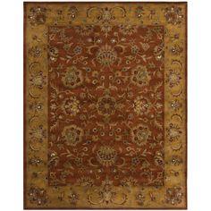 Handmade Heritage Rust/ Beige Wool Rug   Overstock.com Shopping - The Best Deals on 7x9 - 10x14 Rugs