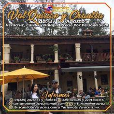 Este 27 de Agosto #Valquirico y La Ex Hacienda De #Chautla te esperan saliendo de Veracruz, Cardel y Xalapa. Costo del viaje $620 por persona. RESERVA AHORA  Más información en: Tels: 01 (229) 202 65 57 y 150 83 16  WhatsApp: 2291476029 y 2291508316 Email / Hangouts: turismoenveracruz@gmail.com http://www.turismoenveracruz.mx/