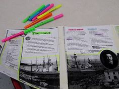 Textmapping using nonfiction texts. Would be great to use different leveled text to match your varied readers. Reading Lessons, Reading Resources, Reading Skills, Reading Workshop, Teaching Reading, Library Lessons, Guided Reading, Teaching Maps, Reading Books