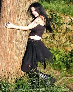 Merelven Mini Skirt by Moonmaiden Gothic Clothing UK