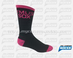 Multisport socks made with Coolmax fabric. #Multisport custom socks - free quote! ////// Calcetas diseñadas por My Custom Socks para T-Mobile US, Inc. en Bellevue, Washington. Calcetas para Multideporte hechas con tela Coolmax. #Multideporte calcetas personalizadas - cotización gratis! www.mycustomsocks.com