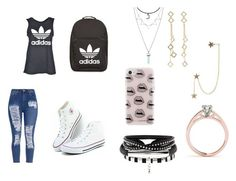 """Untitled #48"" by pisy88 on Polyvore featuring adidas, Rebecca Minkoff, Arme De L'Amour, Hot Topic and Zimmermann"