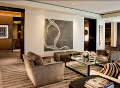 Masculine Living Room Design by Shawn Penoyer Atlanta - Los Angeles - Miami