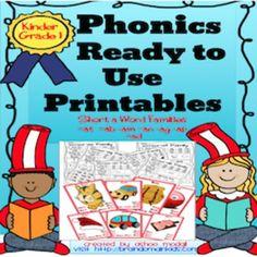 Phonics CVC  Ready to Use Printables