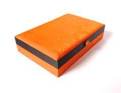 Schmuckkasten orange Jewellery box orange