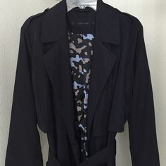 NWOT Zara Navy Trench Coat Size S New without tags Zara navy trench coat size small Zara Jackets & Coats Trench Coats