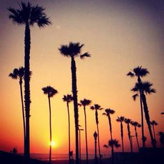 Sunset in Huntington Beach, California, USA