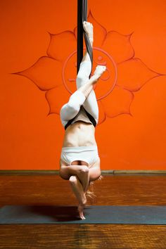 Yoga. Intertwined in aireal (aerial) yoga #yoga #aerial #hammock