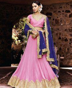 Buy Classy Pink Lehenga Choli online at  https://www.a1designerwear.com/classy-pink-lehenga-choli-11  Price: $175.00 USD