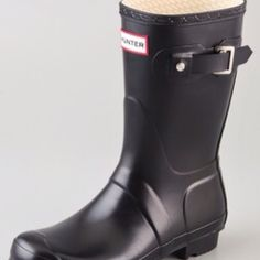 hunter boots, black. love them!