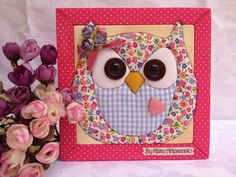 Owl  patchwork sin agujas