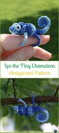 Amigurumi Crochet Leo the Tiny Chameleon Paid Pattern - Crochet Chameleon Amigurumi Softies Toy Patterns