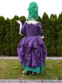 So unique - Rococo genderbend Joker cosplay! Every bit of it made by hand! Joker Cosplay, Rococo, Refashion, Germany, It Is Finished, Costumes, Comics, Unique, Dresses