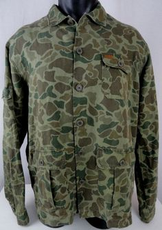 NWT Polo Ralph Lauren Mens XL Work Shirt LS Twill Camo Green Brown Linen Blend  #PoloRalphLauren #ButtonFront