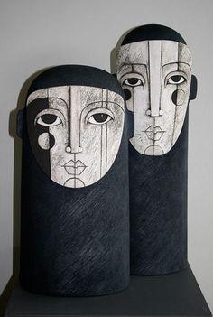 Ceramics by Sue Hanna at Studiopottery.co.uk - 2012. Couple