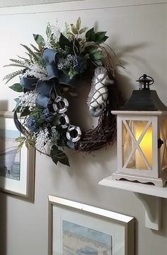 Spring Wreath Summer WreathNantucket by TheChicyShackWreaths