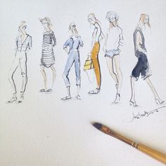 Sketching the queen of street style weworewhat Also, today is the last day to enter my Micron giveaway! You can enter at jeanettegetrost.com