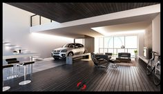 Dark-brown-wood-paneled-living-room-complete-with-the-bike-and-car-designed-by-Addoy.jpg (900×519)