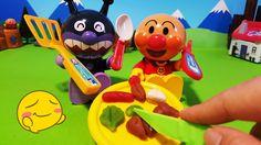 アンパンマンおもちゃアニメ❤ねんど遊び!ままごとトントンしてみたよ♪おかあさんといっしょ♦ Anpanman clay toys play house