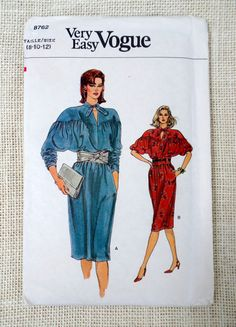 Vintage pattern Vogue 8762 batwing knee by momandpopcultureshop