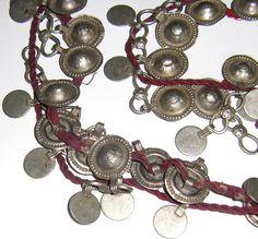 44 Strung Vintage Turkmen Tribal Dome Buttons by BirgissBellywear