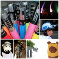 SO MANY COOL IDEAS for Star Wars fans.. from plant pots to cycling helmets and the obligatory Pool Noodle Light Sabers.. One stop shop for STAR WARS CRAFTS!