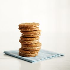Nutella Sandwich Cookies | Martha Stewart Living - Think sandwich, and not just panini; use your Nutella as a filling for cookies like these and enjoy a rich peanut-butter-oatmeal-hazelnut-chocolate experience.