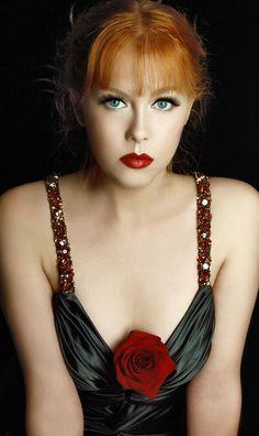 Jennifer #RedLips #Photography #Beauty #Portfolio #Headshot #Model #Fashion #Print #Followme http//:MargaretKimura.com #Makeup #hair