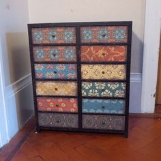 vintage multi moroccan pattern drawer cabinet by Wanderlusthome1