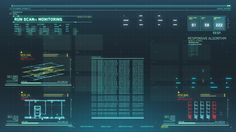 Scarab Digital's UI - miscellaneous diagnostics run in S.T.A.R. Labs Cortex…
