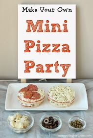 Mini Pizza party bar @ a sleepover. Fun!