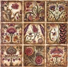 DEKUPAJ Decoupage Vintage, Decoupage Paper, Mosaic Wall Art, Tile Art, Newspaper Crafts, Cool Posters, Paper Background, Mandala Design, Vintage Flowers