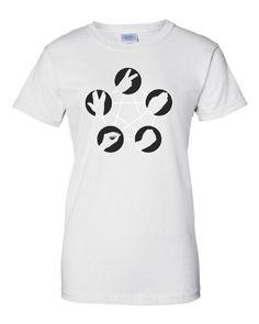 Small White Womens Rock Paper Scissors Lizard Spock Big Bang Theory Inspired T-Shirt