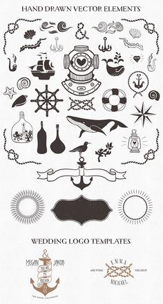 #Nautical hand drawn #vector element