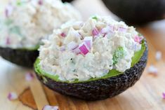 Check out my secret ingredient in my tuna salad recipe! Loads of crunch in these Keto Tuna Salad Stuffed Avocados!