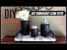 DIY   KIT BANHEIRO COM POTES   DO LIXO AO LUXO  HOME&DECORA - YouTube