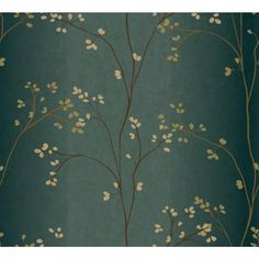 York Wallcoverings 56 sq. ft. Vertical Blossoms Wallpaper-BR6224 - The Home Depot