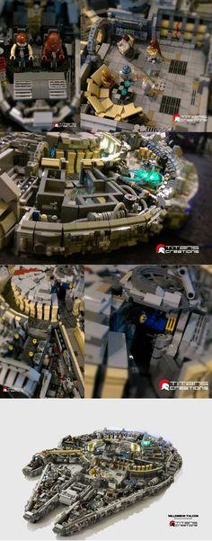 10,000-brick Lego Millennium Falcon By Titans Creations!
