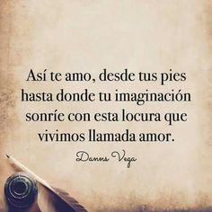F R A S E S | Danns Vega | Poemas y versos de amor | Pinterest.com